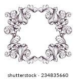 vintage border  frame engraving ... | Shutterstock . vector #234835660