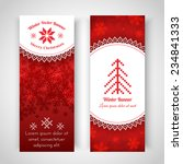 set of christmas banners.... | Shutterstock .eps vector #234841333