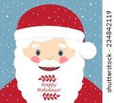 vector illustration of santa... | Shutterstock .eps vector #234842119