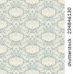 seamless vintage damask pattern ... | Shutterstock . vector #234846130