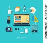 web design concept. computer... | Shutterstock . vector #234846739