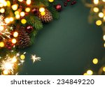 art christmas greeting card | Shutterstock . vector #234849220