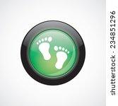 man footprints sign icon green...