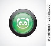 panda glass sign icon green...