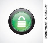 lock sign icon green shiny...