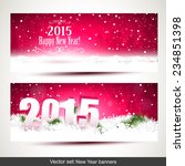Vector Set Of Two New Year...