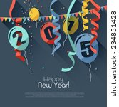 happy new year 2015   modern... | Shutterstock .eps vector #234851428
