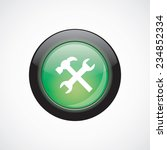 settings sign icon green shiny...