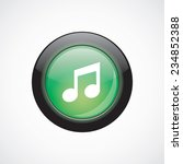music glass sign icon green...