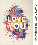 love you colorful typography...