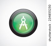 compasses glass sign icon green ...