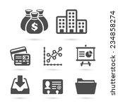business finance icons isolated ... | Shutterstock .eps vector #234858274