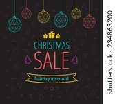 holiday discount with christmas ... | Shutterstock .eps vector #234863200