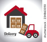 delivery design over white... | Shutterstock .eps vector #234863350