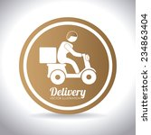 delivery design over white... | Shutterstock .eps vector #234863404