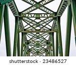 rusted old iron trellis bridge. ... | Shutterstock . vector #23486527