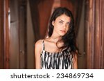 young beautiful brunette woman... | Shutterstock . vector #234869734