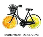 bicycle with hand drawn... | Shutterstock .eps vector #234872293