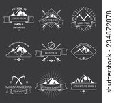 camping mountain adventure... | Shutterstock .eps vector #234872878