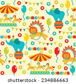 seamless pattern with cute... | Shutterstock .eps vector #234886663