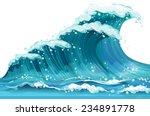 illustration of a huge ocean... | Shutterstock .eps vector #234891778