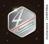4th anniversary   classy and... | Shutterstock .eps vector #234893866