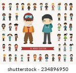set of winter collection... | Shutterstock .eps vector #234896950