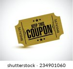 keep this coupon. yellow ticket ... | Shutterstock .eps vector #234901060