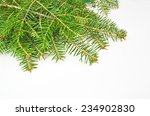 firs branches in white xmas... | Shutterstock . vector #234902830