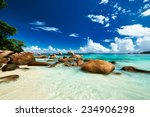 beautiful beach at seychelles ... | Shutterstock . vector #234906298