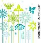 winter flowers   Shutterstock .eps vector #234910639