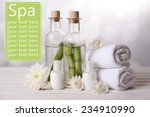 spa setting on light background | Shutterstock . vector #234910990