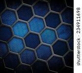 cellular metal background  | Shutterstock . vector #234911698
