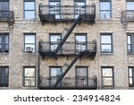 black fire escape in brooklyn ...