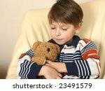 boy with teddy bear | Shutterstock . vector #23491579