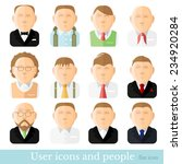 avatar people icons set  people ... | Shutterstock .eps vector #234920284