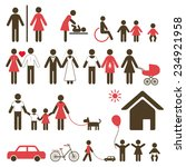 set of family icons and signs... | Shutterstock .eps vector #234921958