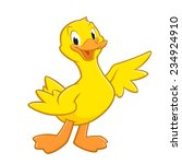 Cartoon Duck. Isolated Object...