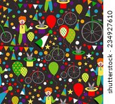 Seamless Pattern With Circus ...