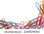 many colorful paper clips... | Shutterstock . vector #234929053