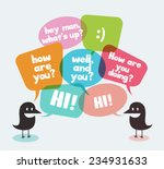 two birds symbolizing discussion | Shutterstock .eps vector #234931633