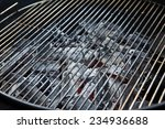 closeup of charcoal in grill... | Shutterstock . vector #234936688