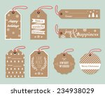 collection of stylish new year... | Shutterstock .eps vector #234938029