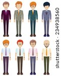 eight faceless gentlemen on a... | Shutterstock .eps vector #234938560