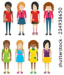 faceless little girls without...   Shutterstock .eps vector #234938650