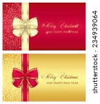 red glossy gift card with cream ... | Shutterstock .eps vector #234939064