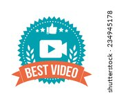 simple best video banner tag | Shutterstock .eps vector #234945178
