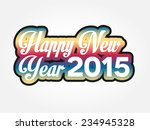 simple colorful happy new year... | Shutterstock .eps vector #234945328