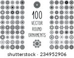 set round ornament pattern.... | Shutterstock .eps vector #234952906