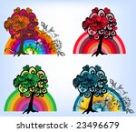 valentine's day background with ...   Shutterstock .eps vector #23496679